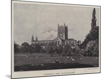 Tewkesbury Abbey, Gloucestershire--Mounted Giclee Print