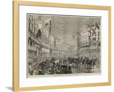 The Royal Entry into London, the Procession Passing Down Regent-Street--Framed Giclee Print
