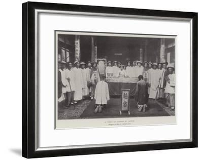 A Court of Justice in Canton--Framed Giclee Print