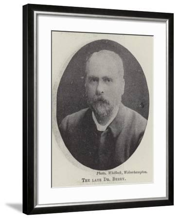 The Late Dr Berry--Framed Giclee Print