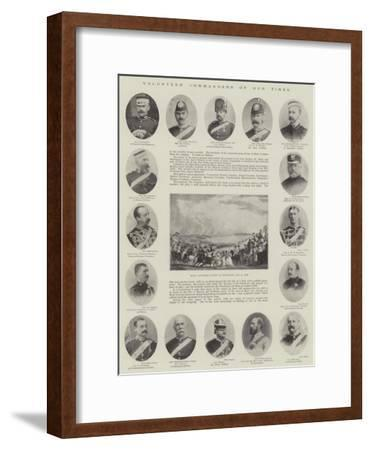 Volunteer Commanders of Our Times--Framed Giclee Print
