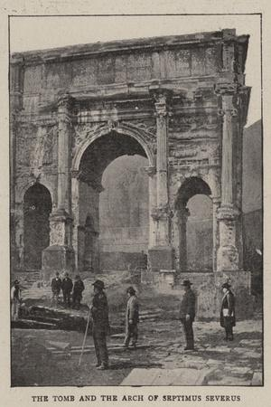 The Excavations of Rome--Stretched Canvas Print