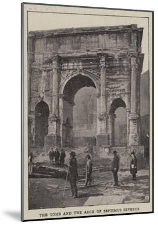The Excavations of Rome--Mounted Giclee Print