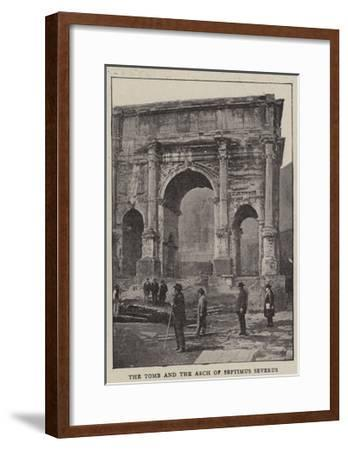 The Excavations of Rome--Framed Giclee Print