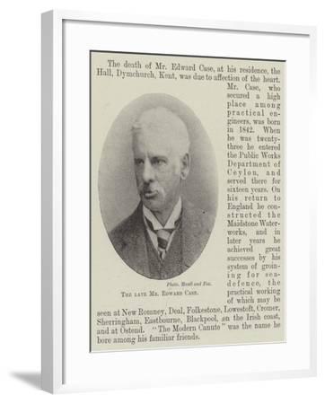 The Late Mr Edward Case--Framed Giclee Print