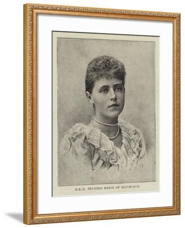 Hrh Princess Marie of Edinburgh--Framed Giclee Print