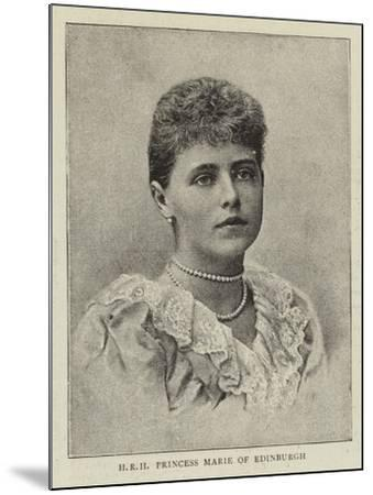 Hrh Princess Marie of Edinburgh--Mounted Giclee Print
