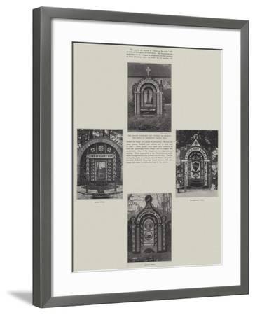 Decking the Wells at Tissington--Framed Giclee Print