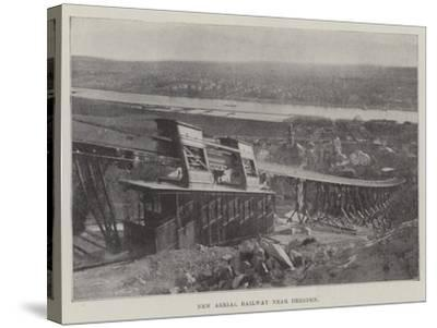 New Aerial Railway Near Dresden--Stretched Canvas Print