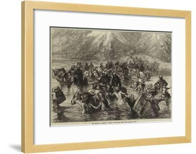 The Mission to Yarkund, Crossing the Shayok Below the Khardung Pass--Framed Giclee Print