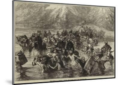 The Mission to Yarkund, Crossing the Shayok Below the Khardung Pass--Mounted Giclee Print