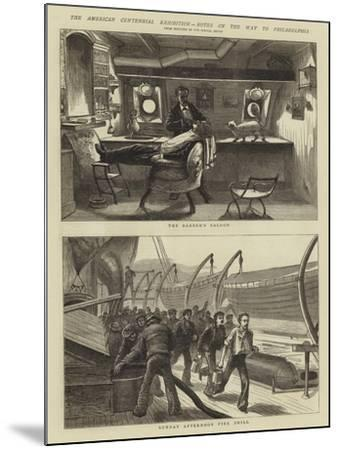 The American Centennial Exhibition, Notes on the Way to Philadelphia--Mounted Giclee Print