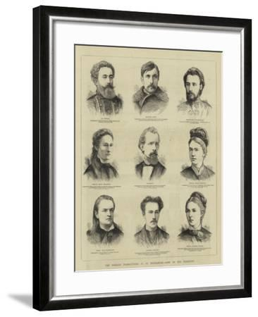 The Nihilist Prosecutions at St Petersburg, Some of the Prisoners--Framed Giclee Print