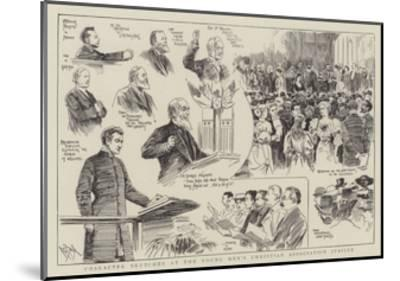 Character Sketches at the Young Men's Christian Association Jubilee--Mounted Giclee Print
