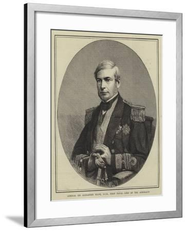 Admiral Sir Alexander Milne, Gcb, First Naval Lord of the Admiralty--Framed Giclee Print