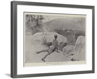 Through the Boer Lines, a Native Runner with Despatches for Ladysmith--Framed Giclee Print