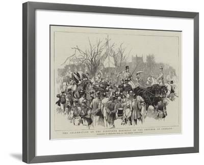 The Celebration of the Ninetieth Birthday of the Emperor of Germany--Framed Giclee Print