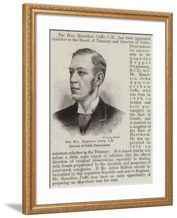 The Honourable Hamilton Cuffe, Cb, Director of Public Prosecutions--Framed Giclee Print