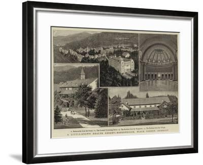 A Little-Known Health Resort, Badenweiler, Black Forest, Germany--Framed Giclee Print