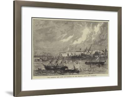 The Harbour and Town of Zanzibar on the Morning after the Hurricane--Framed Giclee Print