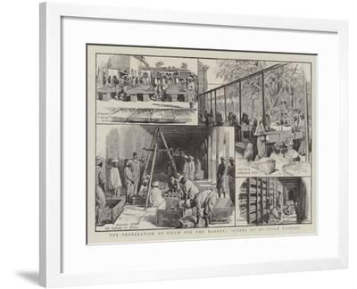 The Preparation of Opium for the Market, Scenes at an Opium Factory--Framed Giclee Print