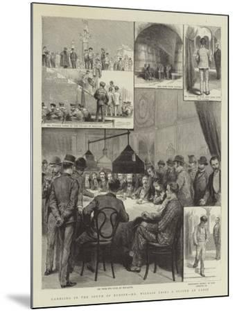 Gambling in the South of Europe, Mr Wildair Tries a System at Cadiz--Mounted Giclee Print