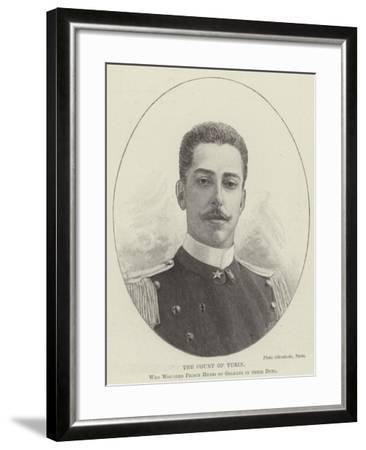 The Count of Turin, Who Wounded Prince Henri of Orleans in their Duel--Framed Giclee Print