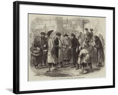 A Group at the Great Annual Fair at Nijni Novgorod, Central Russia--Framed Giclee Print