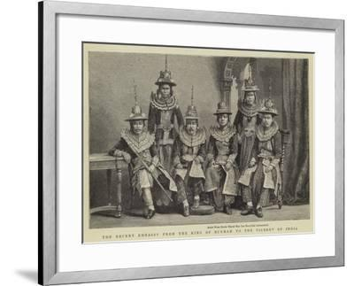 The Recent Embassy from the King of Burmah to the Viceroy of India--Framed Giclee Print
