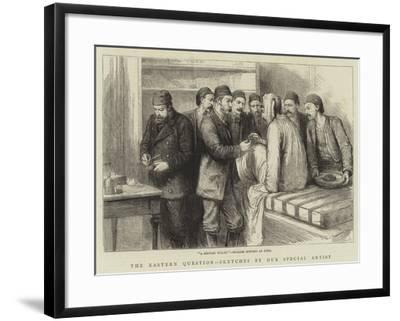 The Eastern Question, A Servian Bullet, English Surgery at Sofia--Framed Giclee Print