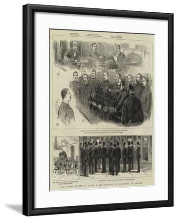 The Assassination of James Carey, Arrival of O'Donnell in London--Framed Giclee Print
