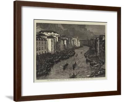The Geographical Congress at Venice, the Regatta on the Grand Canal--Framed Giclee Print