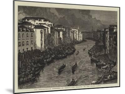 The Geographical Congress at Venice, the Regatta on the Grand Canal--Mounted Giclee Print