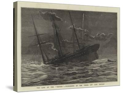The Loss of the Teuton, Foundering of the Vessel Off Cape Hanglip--Stretched Canvas Print
