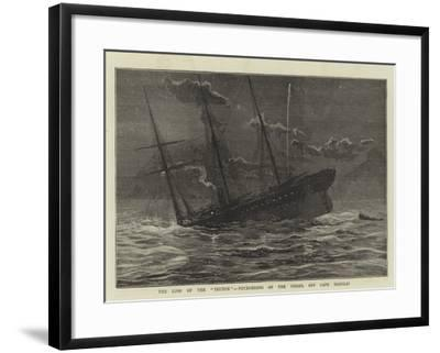 The Loss of the Teuton, Foundering of the Vessel Off Cape Hanglip--Framed Giclee Print