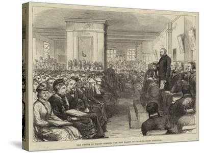 The Prince of Wales Opening the New Wards of Charing-Cross Hospital--Stretched Canvas Print