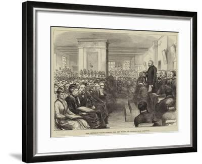 The Prince of Wales Opening the New Wards of Charing-Cross Hospital--Framed Giclee Print