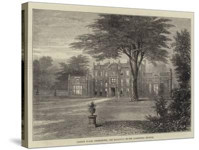Camden Place, Chiselhurst, the Residence of the Ex-Empress Eugenie--Stretched Canvas Print
