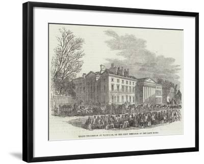 Grand Procession of Plymouth, on the First Despatch of the Cape Mails--Framed Giclee Print