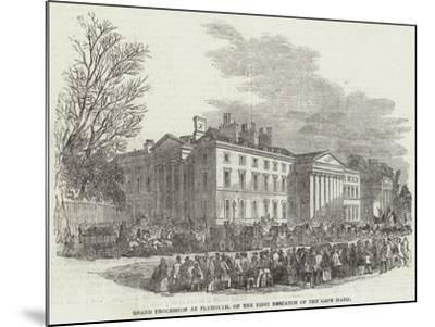 Grand Procession of Plymouth, on the First Despatch of the Cape Mails--Mounted Giclee Print
