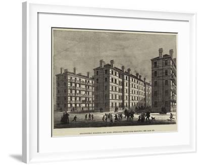 Beaconsfield Buildings, New Model Dwellings, Stroud-Vale, Islington--Framed Giclee Print