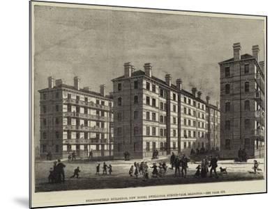 Beaconsfield Buildings, New Model Dwellings, Stroud-Vale, Islington--Mounted Giclee Print