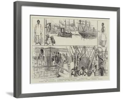 Visit of Colonial Guests to the P and O Company's Fleet, Albert Docks--Framed Giclee Print