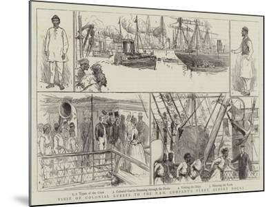 Visit of Colonial Guests to the P and O Company's Fleet, Albert Docks--Mounted Giclee Print