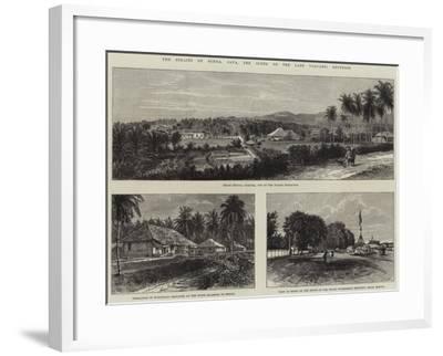 The Straits of Sunda, Java, the Scene of the Late Volcanic Eruption--Framed Giclee Print