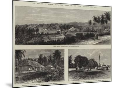 The Straits of Sunda, Java, the Scene of the Late Volcanic Eruption--Mounted Giclee Print