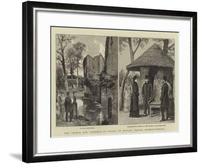 The Prince and Princess of Wales at Raglan Castle, Monmouthshire--Framed Giclee Print