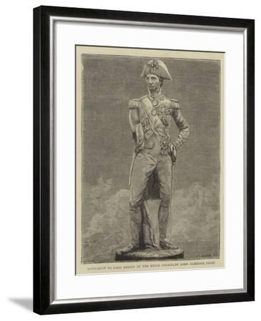Monument to Lord Nelson at the Menai Straits, by Lord Clarence Paget--Framed Giclee Print