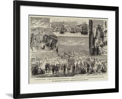 The Earthquakes in Asia Minor, Sketches in the Villages Destroyed--Framed Giclee Print