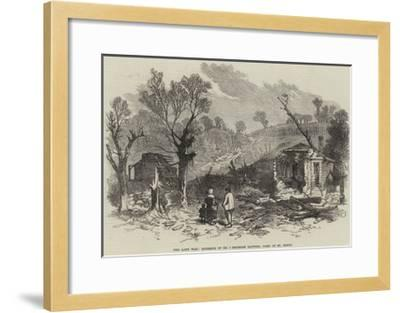 The Late War, Exterior of No 1 Prussian Battery, Park of St Cloud--Framed Giclee Print